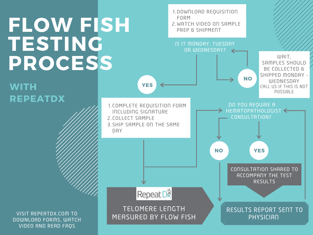 Flow FISH testing process with RepeatDx