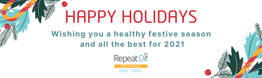 RepeatDx holiday closures
